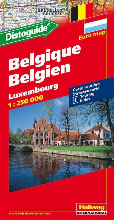 bokomslag Belgien Luxemburg Hallwag karta : 1:250000