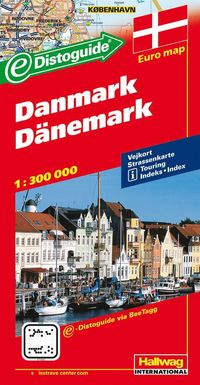 Danmark Distoguide Hallwag karta : 1:400000