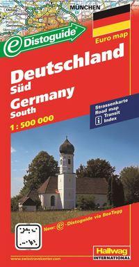 bokomslag Södra Tyskland Distoguide Hallwag karta : 1:500000