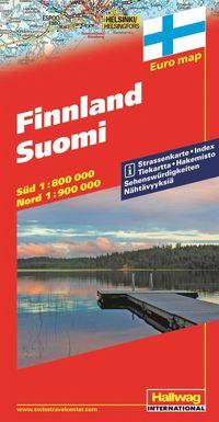 bokomslag Finland Hallwag karta : 1:800000-1:900000