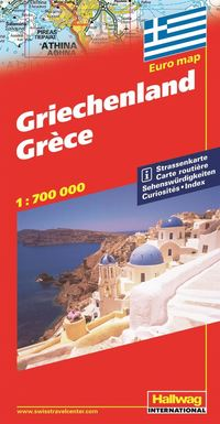 bokomslag Grekland Hallwag karta : 1:700000