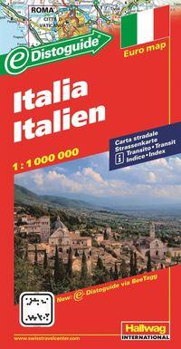 bokomslag Italien Distoguide Hallwag karta : 1:1milj