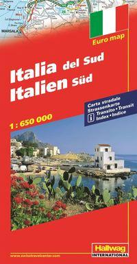 bokomslag Södra Italien Distoguide Hallwag karta : 1:650000