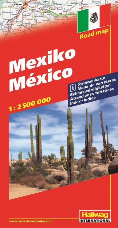 bokomslag Mexico Hallwag karta : 1:2,6milj