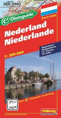 Nederländerna Distoguide Hallwag karta : 1:200000