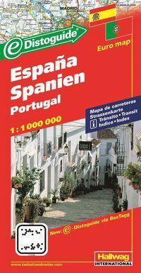 Spanien Portugal Hallwag karta : 1:800000