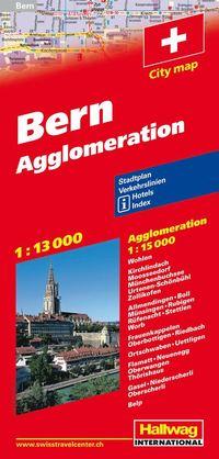 Bern Hallwag stadskarta : 1:13000