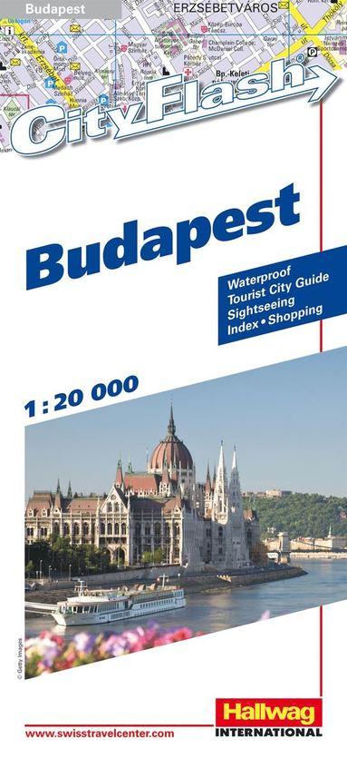 bokomslag Budapest City Flash Hallwag stadskarta : 1:20000