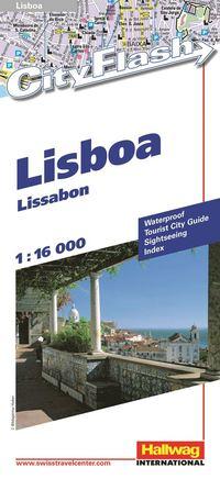 bokomslag Lissabon City Flash Hallwag stadskarta : 1:16000