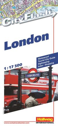 London City Flash Hallwag stadskarta : 1:17500