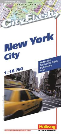 New York City City Flash Hallwag stadskarta : 1:18750
