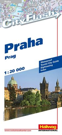 bokomslag Prag City Flash Hallwag stadskarta : 1.20000