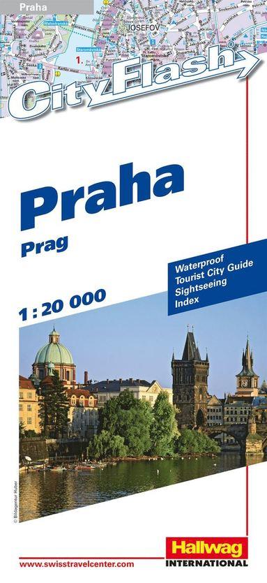 bokomslag Prag City Flash Hallwag stadskarta : 1.20000