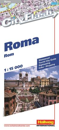 Rom City Flash Hallwag stadskarta : 1:15000