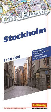bokomslag Stockhom City Flash Hallwag stadskarta : 1:14000