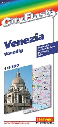 Venedig City Flash Hallwag stadskarta : 1:5500