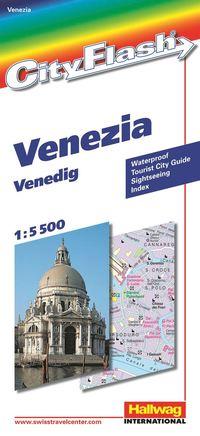 bokomslag Venedig City Flash Hallwag stadskarta : 1:5500