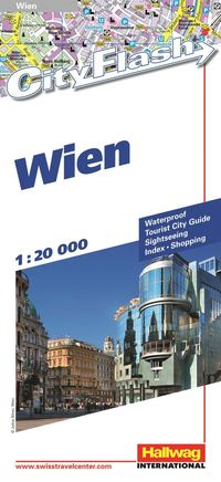 Wien City Flash Hallwag stadskarta : 1:20000