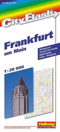 Frankfurt City Flash Hallwag stadskarta : 1:20000