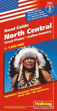 bokomslag USA North Central/Norra & Centrala USA karta nr 2 Hallwag : 1:1,2milj