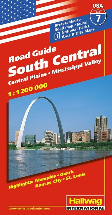 bokomslag USA South Central/Södra & centrala USA karta nr 7 Hallwag : 1:1,2milj