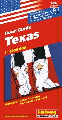 bokomslag USA Texas karta nr 9 Hallwag : 1:1,2milj