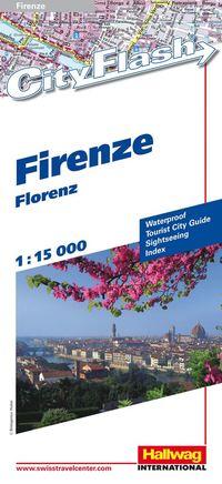 bokomslag Florens City Flash Hallwag stadskarta : 1:15000