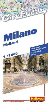 bokomslag Milano City Flash Hallwag stadskarta : 1:15000