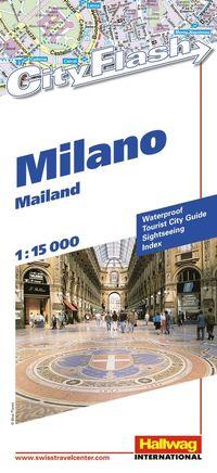 bokomslag Milano City Flash Hallwag stadskarta : 1:15000