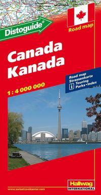 bokomslag Canada Distoguide Hallwag karta : 1:4milj