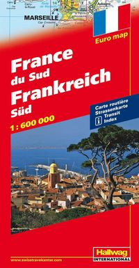 Södra Frankrike Hallwag karta : 1:600000