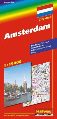 bokomslag Amsterdam Hallwag stadskarta : 1:15000