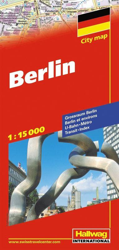 bokomslag Berlin Hallwag stadskarta : 1:15000