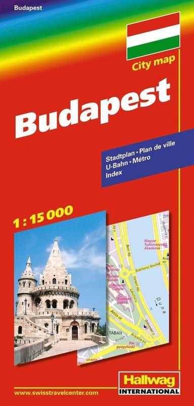 bokomslag Budapest Hallwag stadskarta : 1:15000