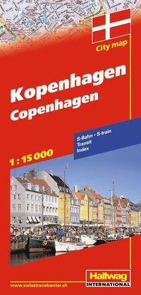 bokomslag Köpenhamn Hallwag stadskarta : 1:15000