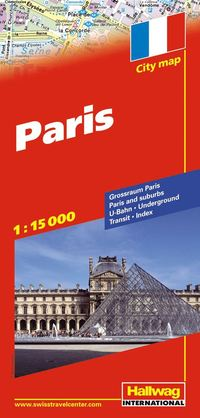 Paris Hallwag stadskarta : 1:15000