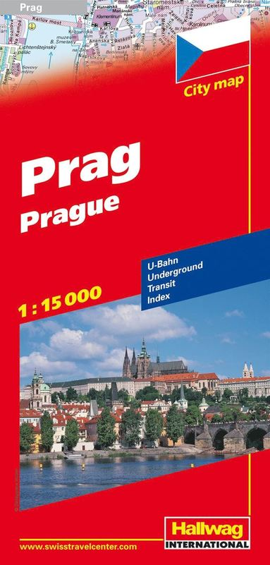bokomslag Prag Hallwag stadskarta : 1:15000