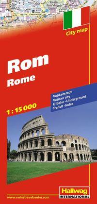 Rom Hallwag stadskarta : 1:15000