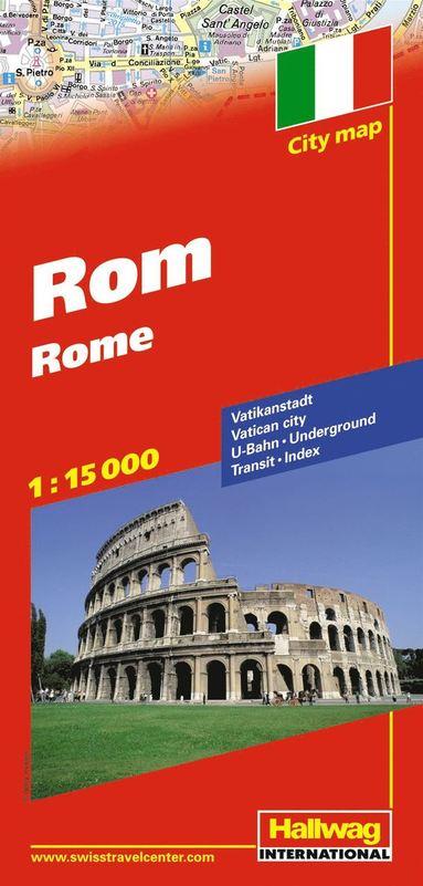 bokomslag Rom Hallwag stadskarta : 1:15000
