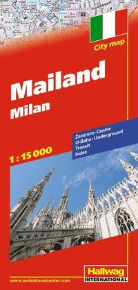 Milano Hallwag stadskarta : 1:15000