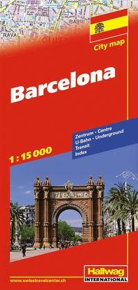 Barcelona Hallwag stadskarta : 1:15000