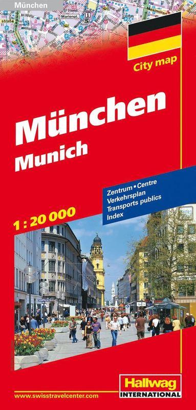bokomslag München Hallwag stadskarta : 1:23000