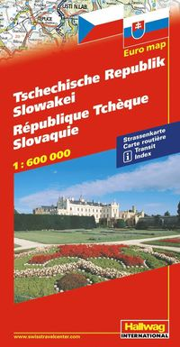 Tjeckien Slovakien Hallwag karta : 1:600000