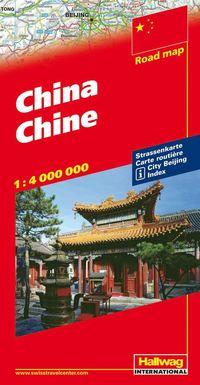 Kina Hallwag karta : 1:4milj