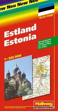 bokomslag Estland Hallwag karta : 1:325000