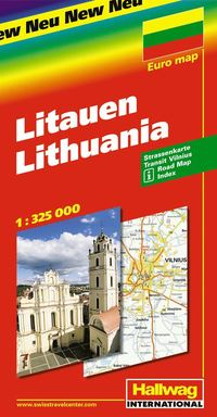 bokomslag Litauen Hallwag karta : 1:325000
