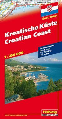 Kroatiska kusten Hallwag karta : 1:250000