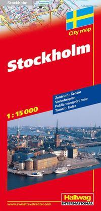 Stockholm Hallwag stadskarta : 1:15000