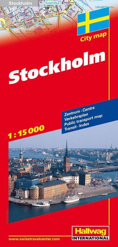bokomslag Stockholm Hallwag stadskarta : 1:15000