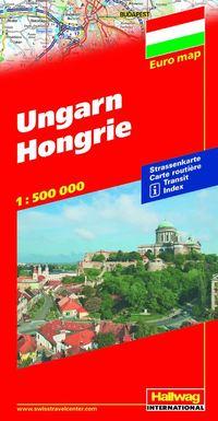 bokomslag Ungern Hallwag karta : 1:275000